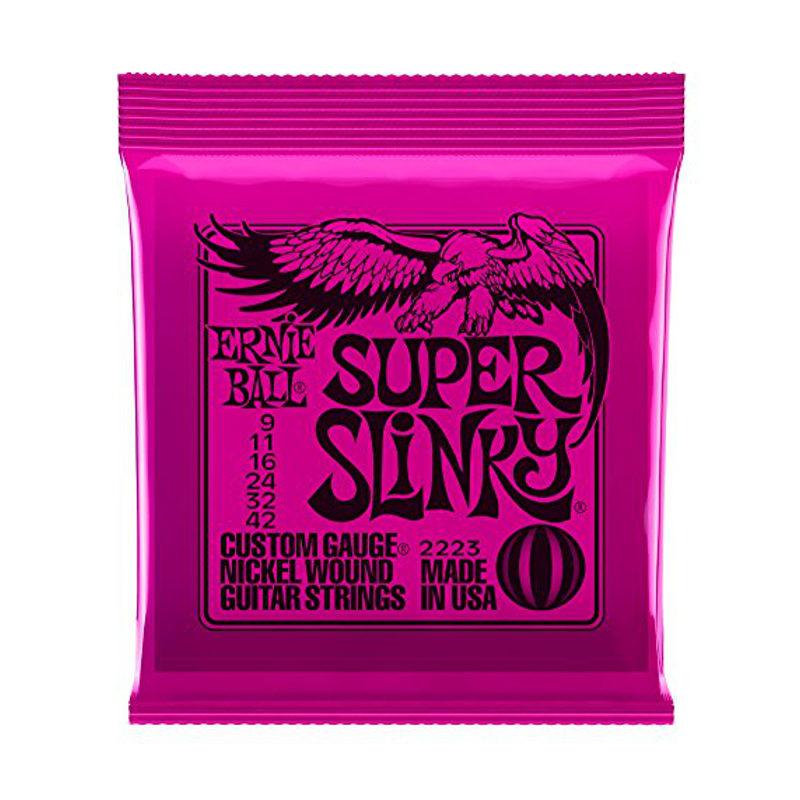Ernie Ball Super Slinky Custom Gauge Nickel Wound Guitar Strings 2223